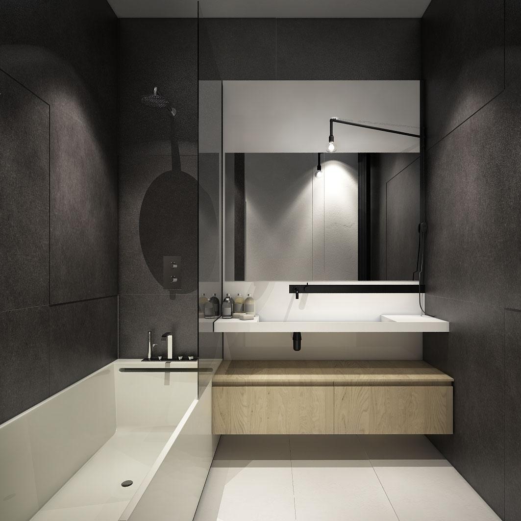 Дизайн ванной для маленькой квартиры в стиле лофт