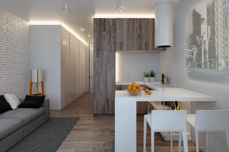 Дизайн для маленькой квартиры в пастельных тонах - фото 4