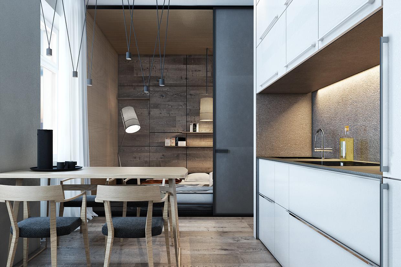 Дизайн для маленькой квартиры в скандинавском стиле - фото 3