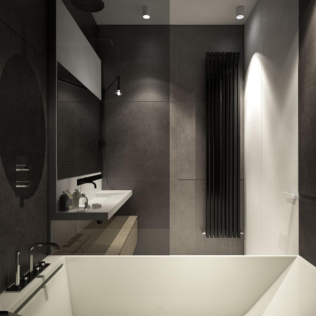 Дизайн ванной для маленькой квартиры в стиле лофт - фото 3