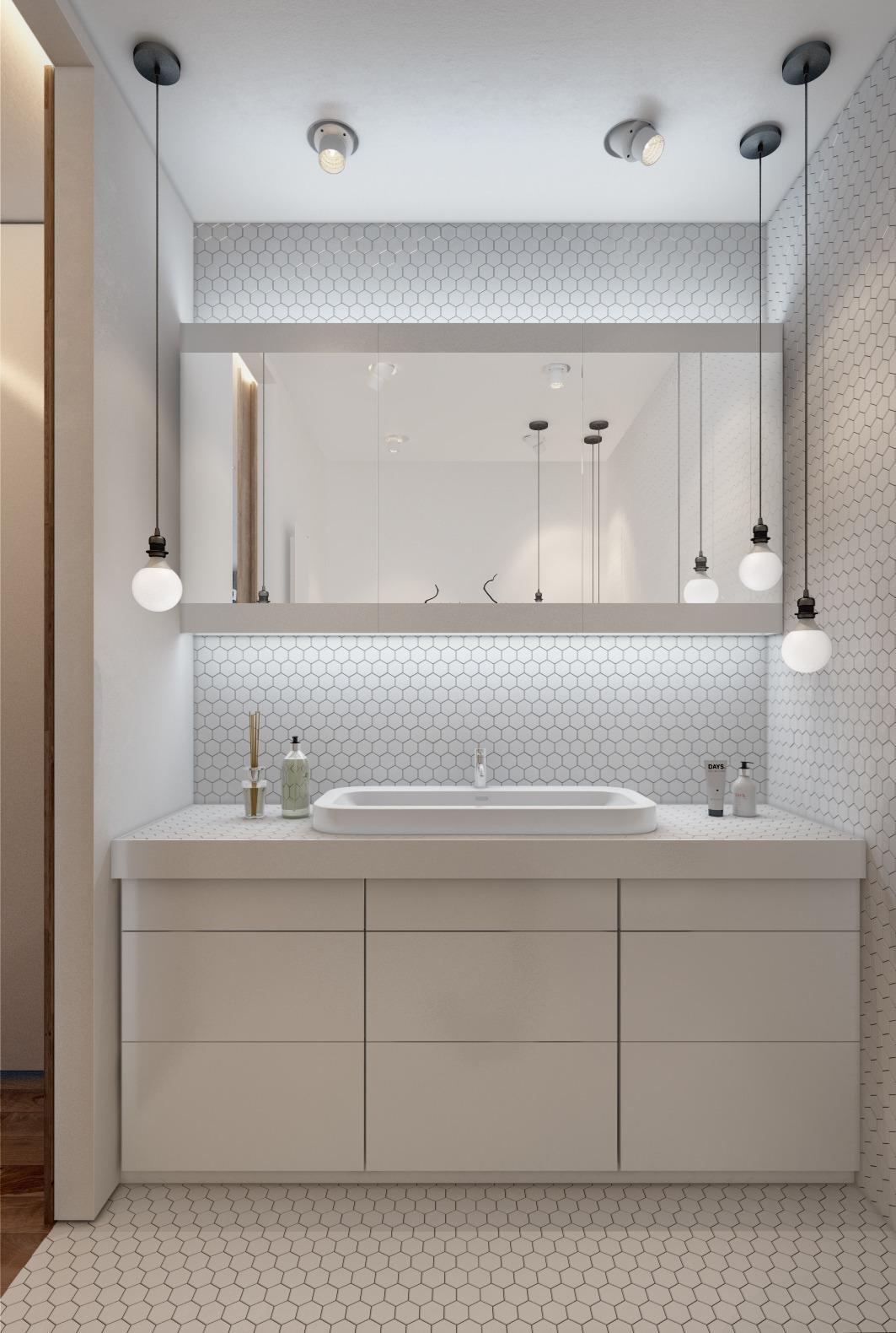 Дизайн белой ванной для маленькой квартиры - фото 3