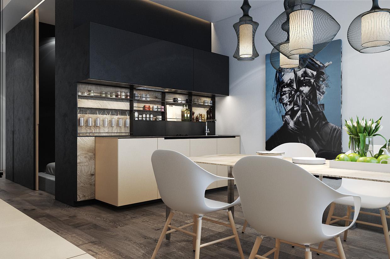 Дизайн для маленькой квартиры в стиле лофт - фото 6