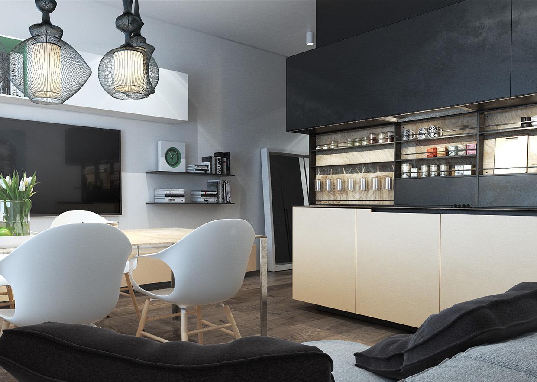 Дизайн для маленькой квартиры в стиле лофт - фото 5