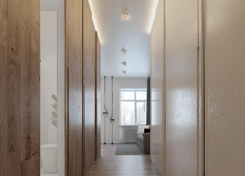 Дизайн белой ванной для маленькой квартиры