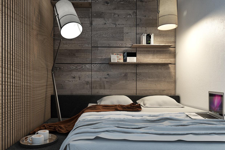 Дизайн спальни для маленькой квартиры в скандинавском стиле