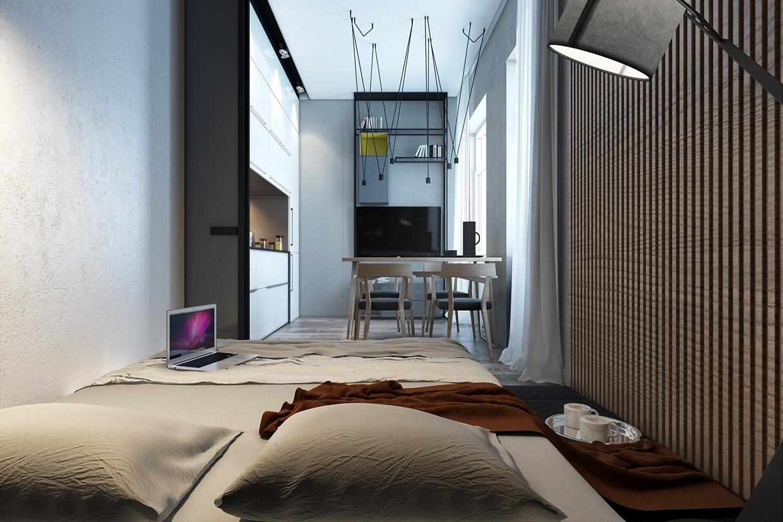 Дизайн спальни для маленькой квартиры в скандинавском стиле - фото 2