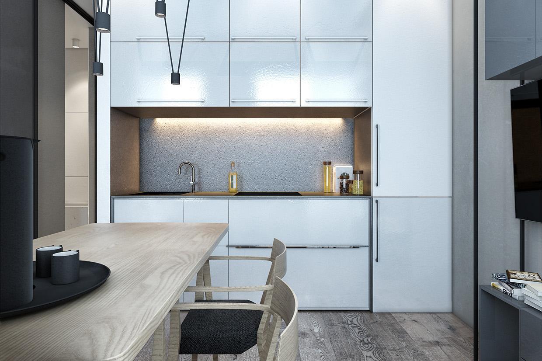 Дизайн для маленькой квартиры в скандинавском стиле