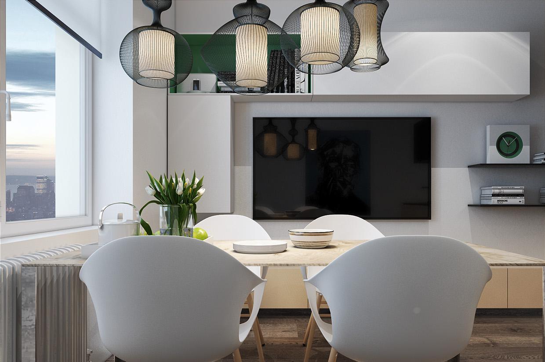 Дизайн для маленькой квартиры в стиле лофт - фото 3