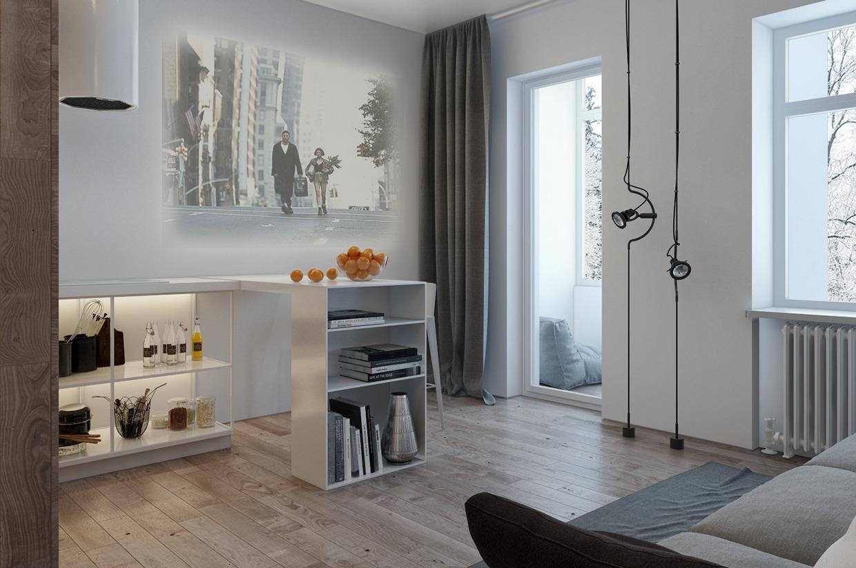 Дизайн для маленькой квартиры в пастельных тонах - фото 5