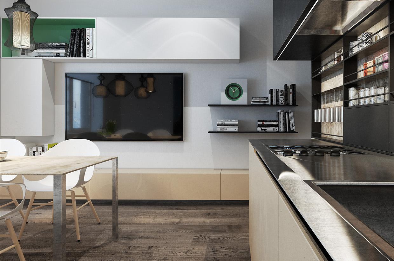Дизайн для маленькой квартиры в стиле лофт