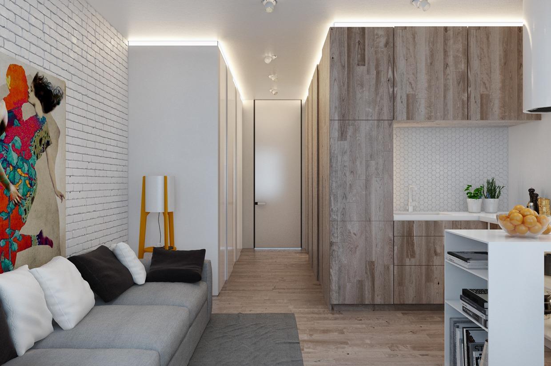Дизайн для маленькой квартиры в пастельных тонах - фото 2