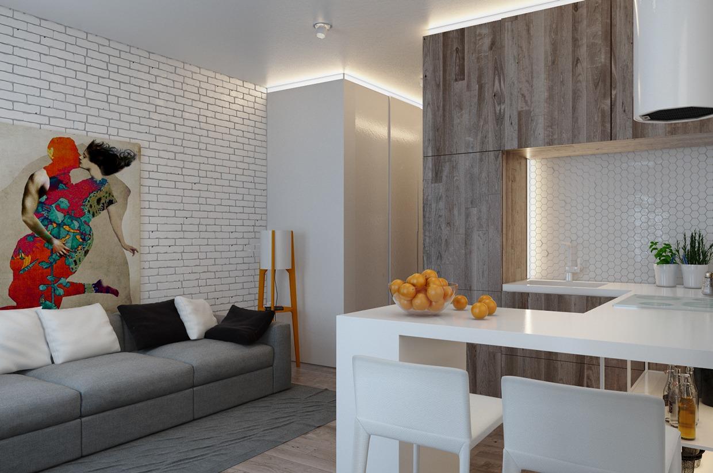 Дизайн для маленькой квартиры в пастельных тонах - фото 3