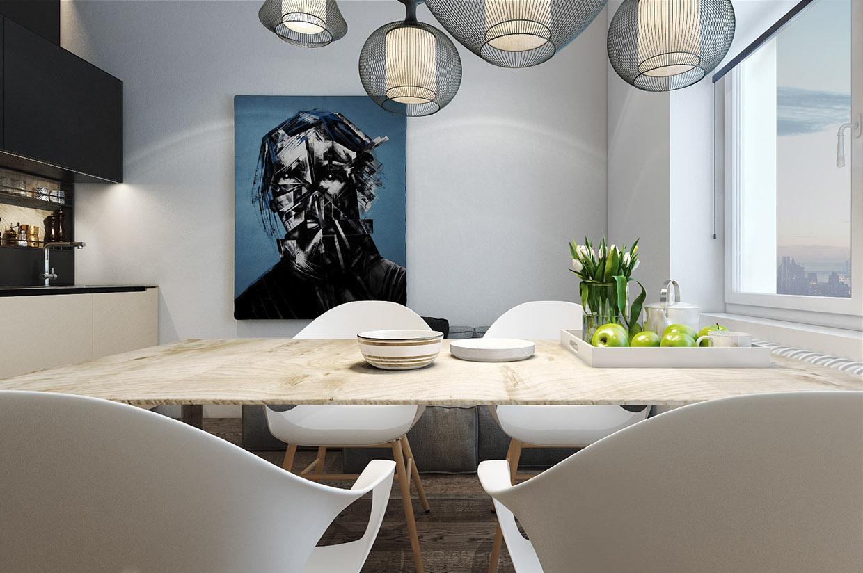 Дизайн для маленькой квартиры в стиле лофт - фото 4