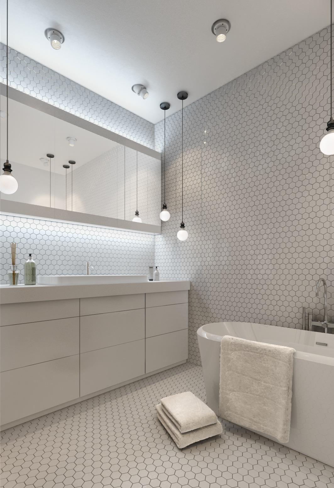Дизайн белой ванной для маленькой квартиры - фото 2