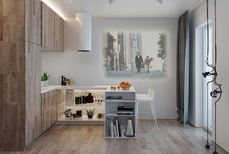 Дизайн для маленькой квартиры в пастельных тонах - фото 7