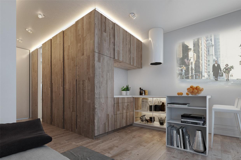 Дизайн для маленькой квартиры в пастельных тонах - фото 6