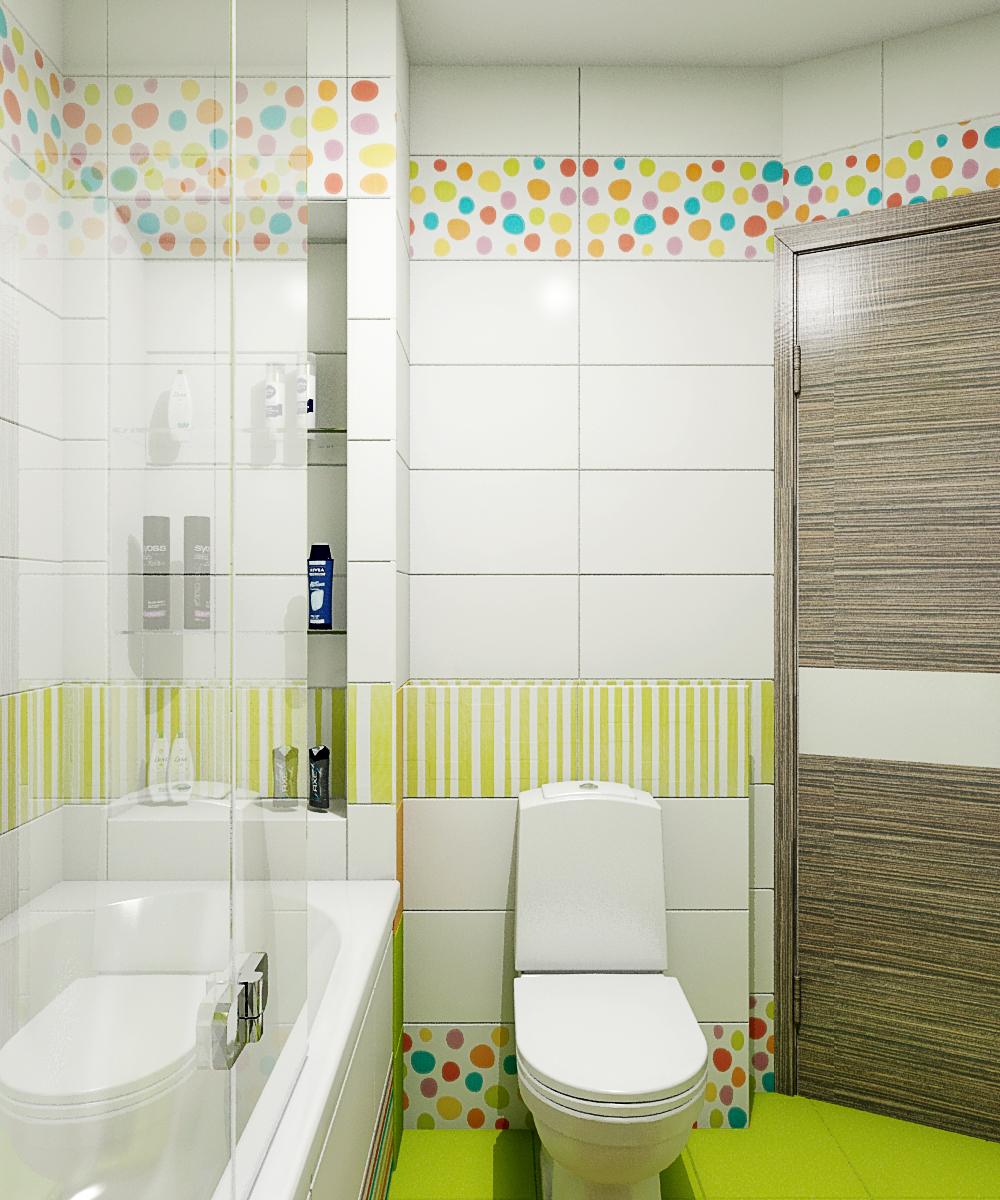 Идея для маленькой ванной комнаты - совмещенный санузел. Фото 1
