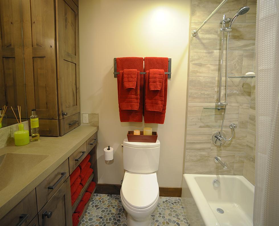 Идея для маленькой ванной комнаты - совмещенный санузел. Фото 3