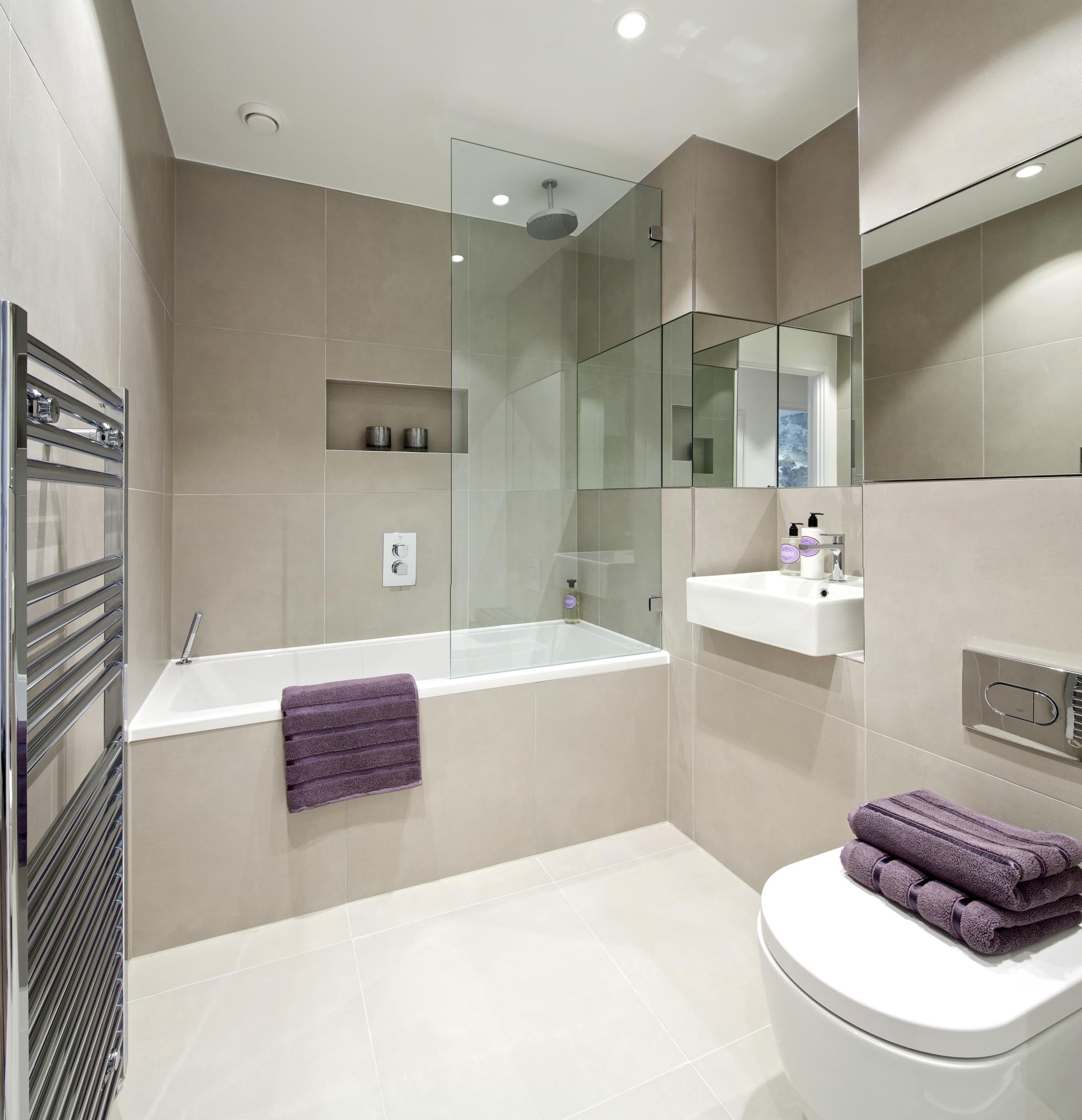 Идея для маленькой ванной комнаты - совмещенный санузел. Фото 6