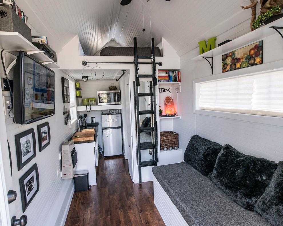 Интерьер маленькой двухуровневой квартиры