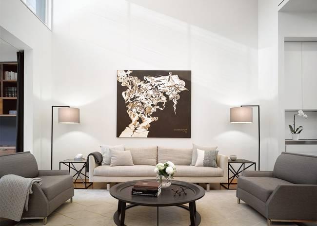 Идея освещения гостиной