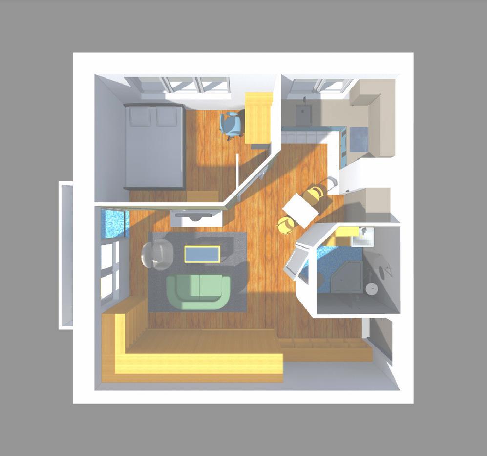 Перепланировка однокомнатной квартиры в квартиру со спальней