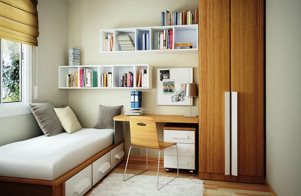Перепланировка однокомнатной квартиры в спальню с кабинетом