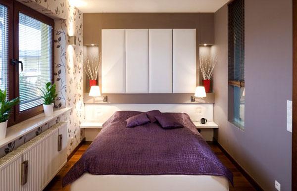 Лавандовый цвет в оформлении спальни
