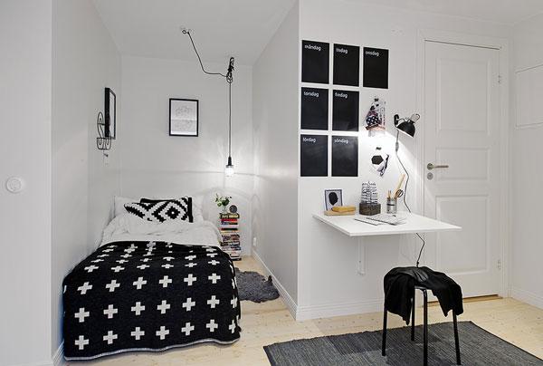 Маленькая спальня в нише