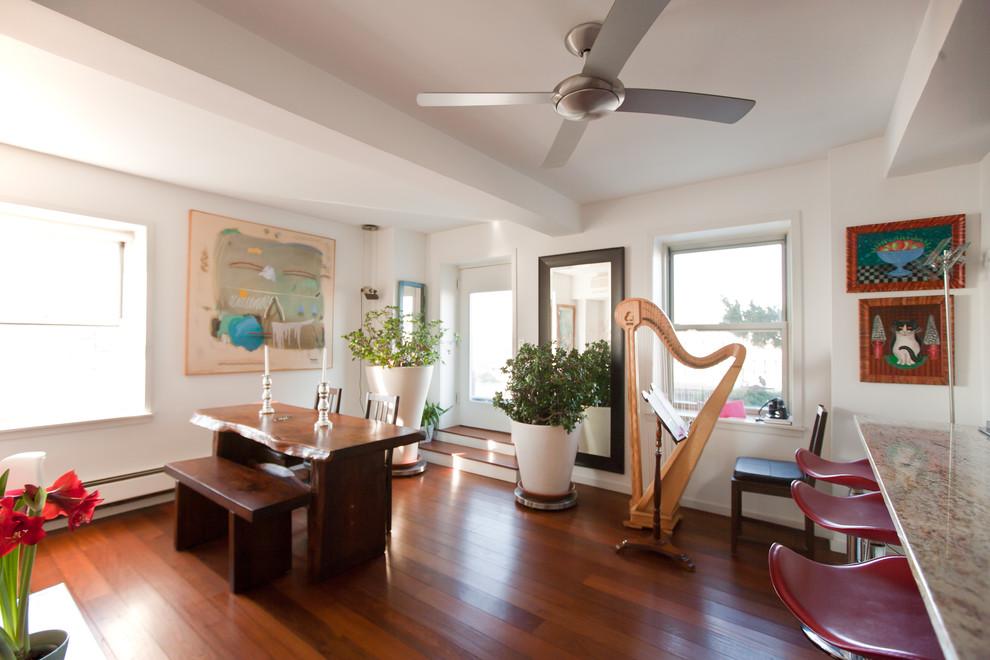 Интерьер квартиры с видом на Бруклин