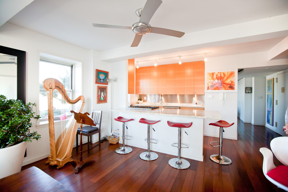 Кухня квартиры с видом на Бруклин