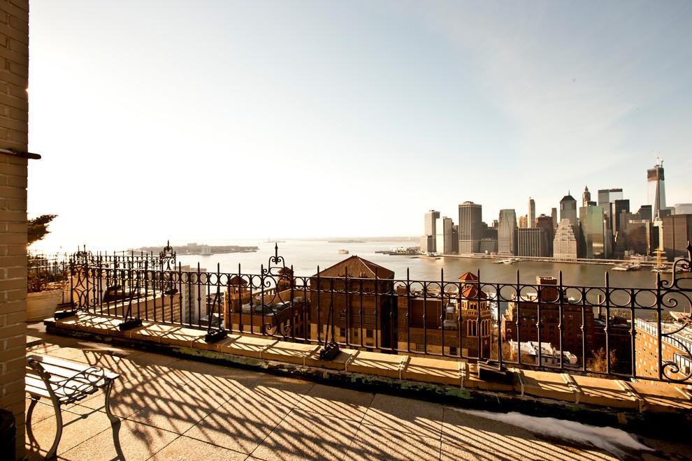 Терраса квартиры с видом на Бруклин