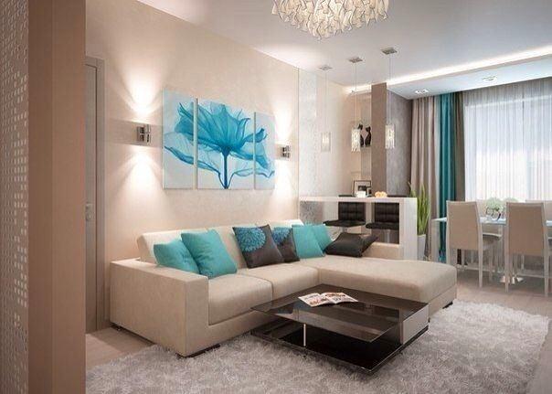 Г-образный диван в гостиной