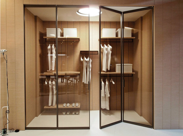 Складные двери в гардеробную
