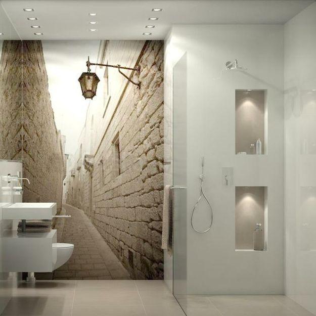 3D-обои в ванной