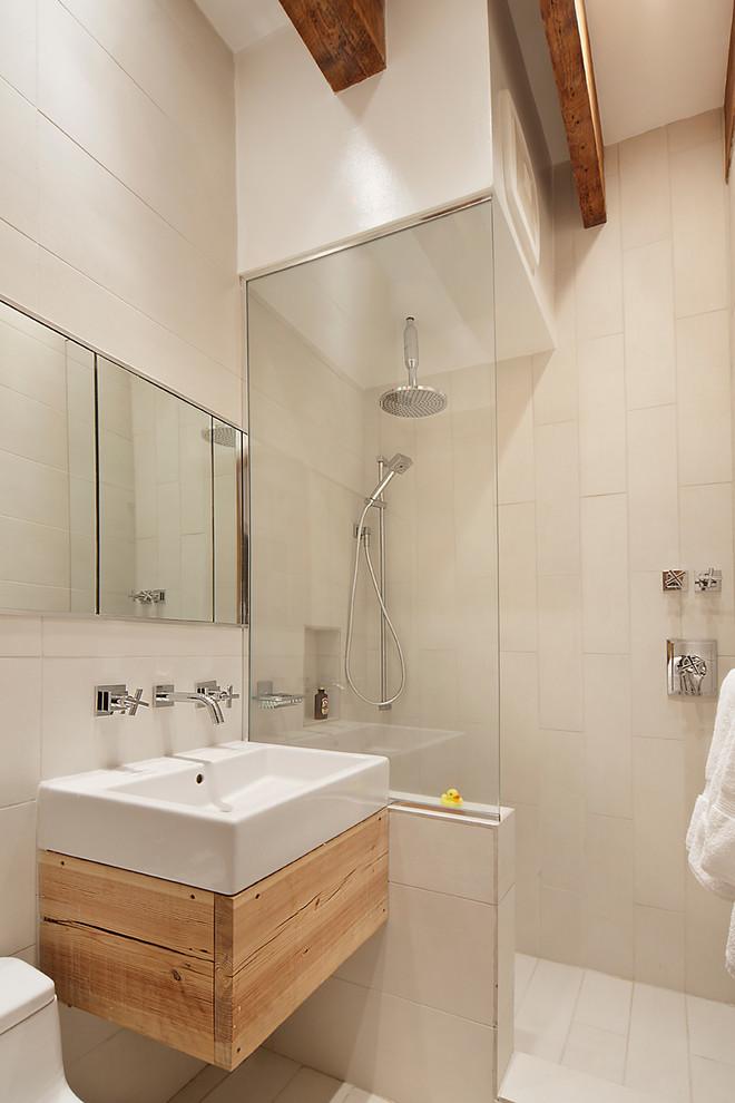 Ванная небольшой квартиры на Манхеттене