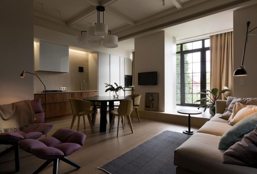 Стильная двухкомнатная квартира в Киеве
