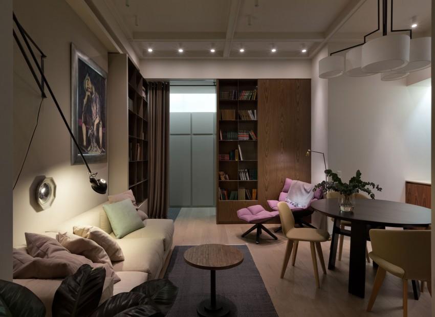Гостиная двухкомнатной квартиры в Киеве
