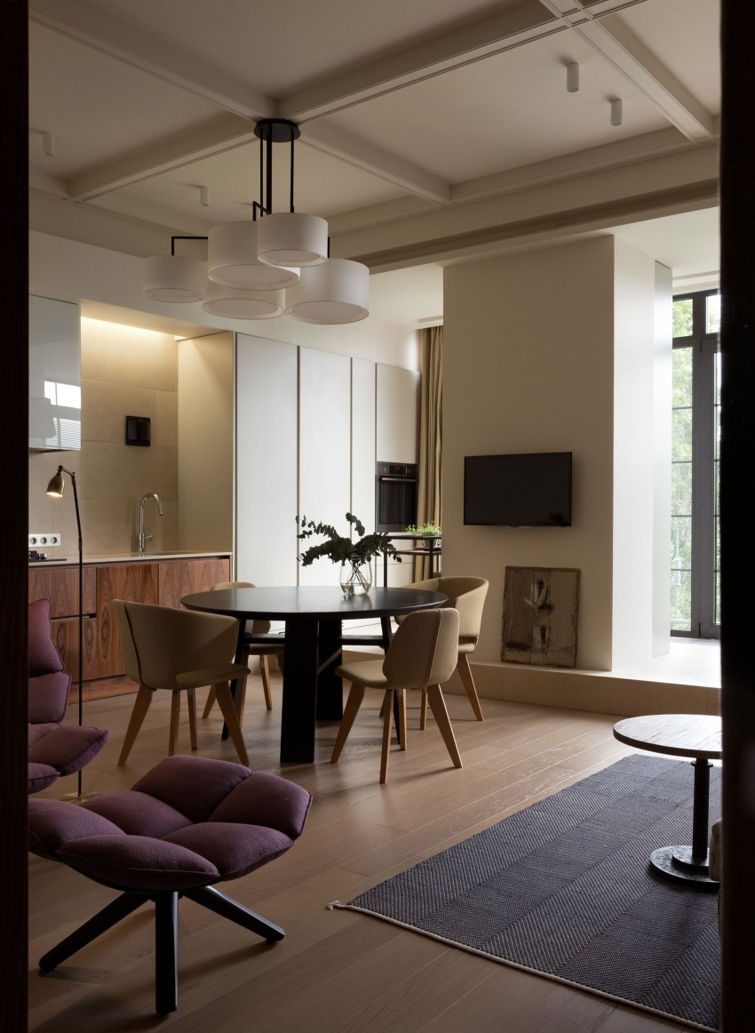 Столовая двухкомнатной квартиры в Киеве