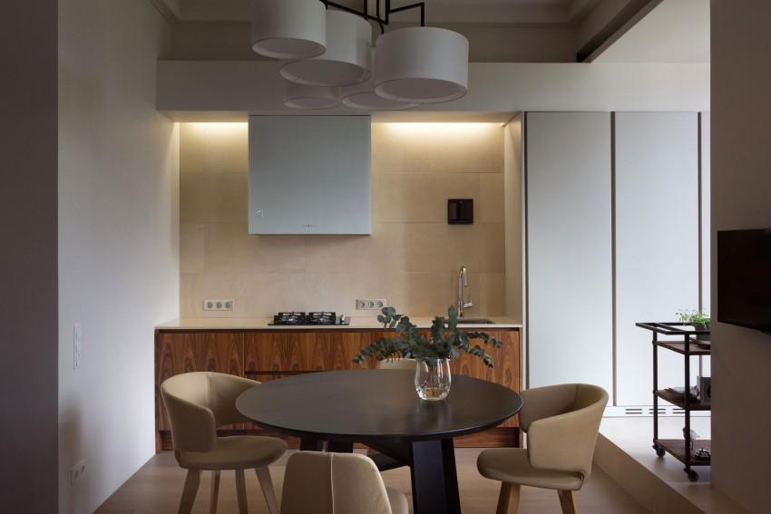 Кухня и столовая двухкомнатной квартиры в Киеве