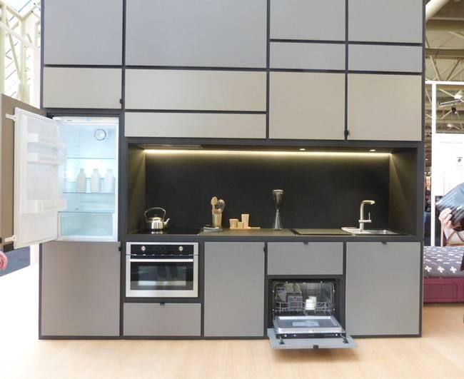 Проект кубического дома. Зона кухни