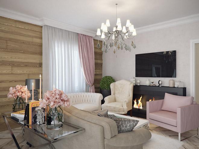Шикарные гостиные комнаты