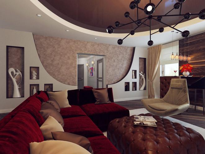 Интерьер гостиной комнаты