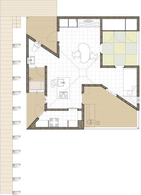 Планировка маленького частного дома