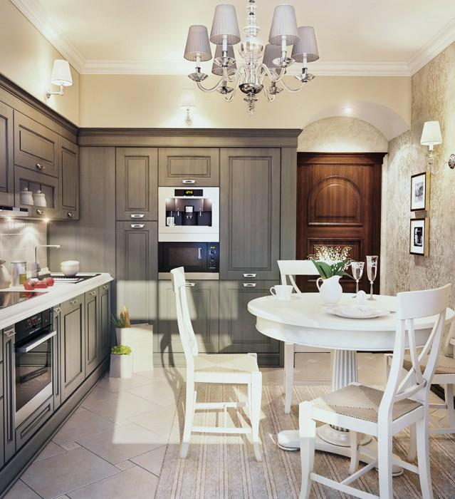 Кухня неоклассика дизайн