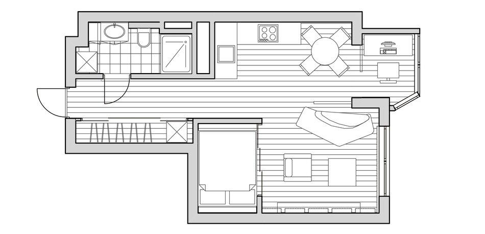 Схема планировки малогабаритной квартиры
