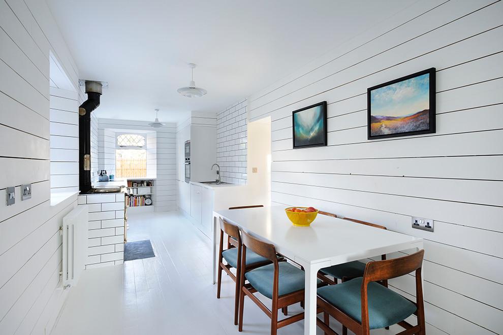 Кухня и столовая в белом цвете