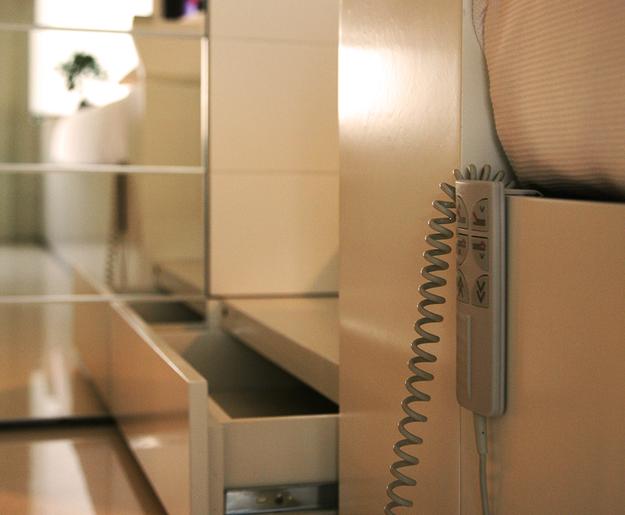 Системы хранения в маленькой квартире-студии