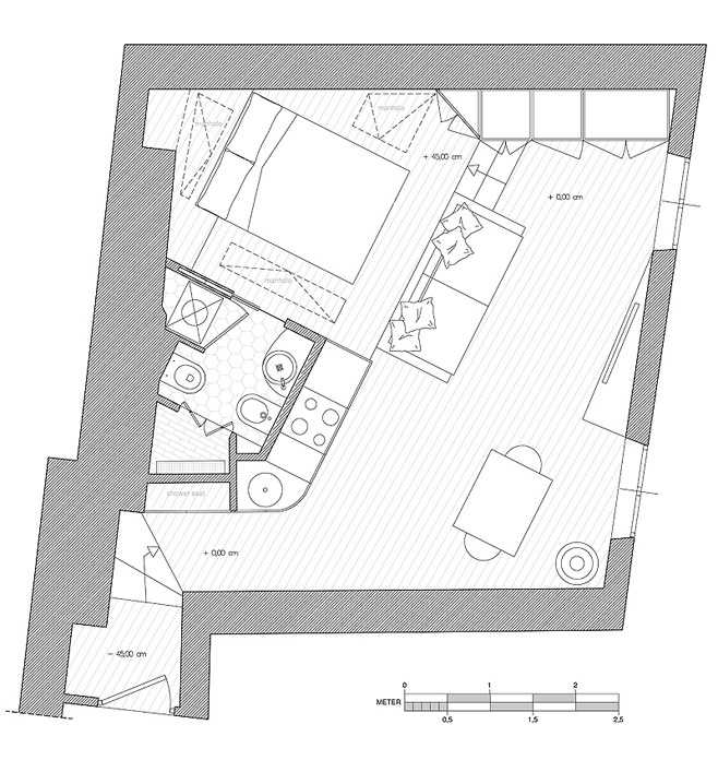 Планировка квартиры от студии дизайна Archifacturing