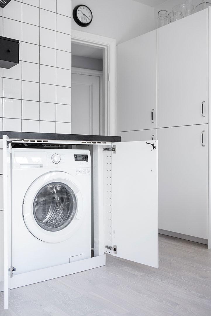 Спрятанная стиральная машина